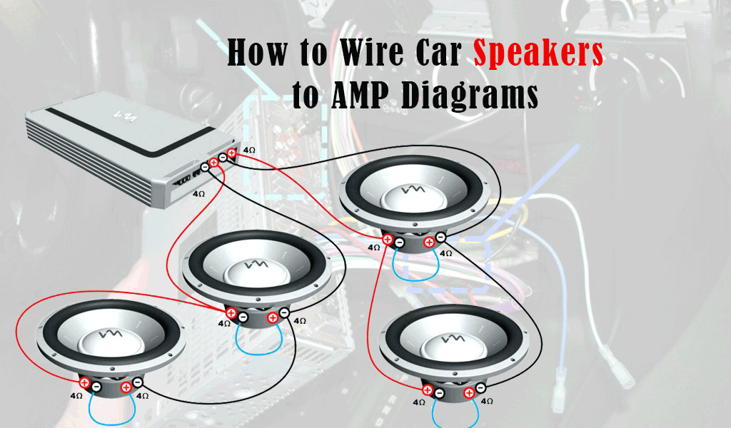 How to Wire Car Speakers to AMP Diagrams